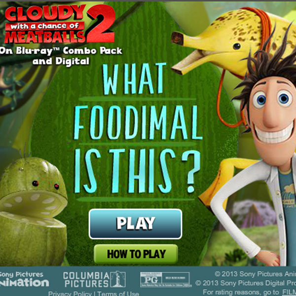 Cloudy with a Chance of Meatballs - Foodimal Quiz