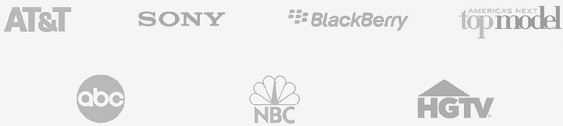 At&t, Sony, BlackBerry, ABC, Nbc, HGTV