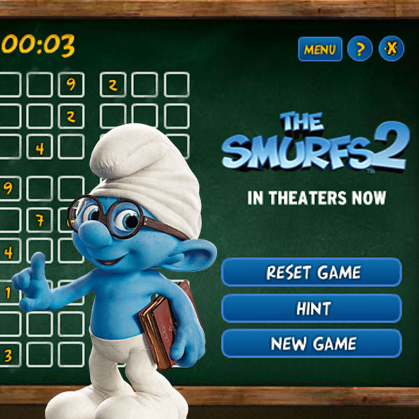 Smurfs - Suduko Game